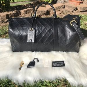0909c5d158b741 CHANEL Bags | Authentic Vip Gift Travel Duffle Gym Bag | Poshmark